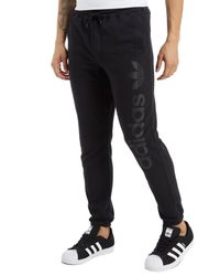 Adidas Originals - Black Skateboarding Tonal Linear Track Pants for Men - Lyst