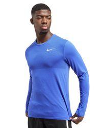 Nike - Blue Zonal Cooling Relay Longsleeve T-shirt for Men - Lyst