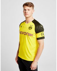 e15cb7985451 PUMA Borussia Dortmund 2018 19 Home Shirt in Yellow for Men - Lyst