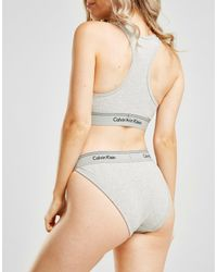 Calvin Klein - Gray Heritage Tanga Briefs - Lyst