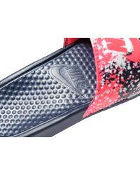 Nike - Blue Benassi Print Slides - Lyst