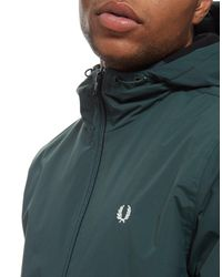 Fred Perry - Green Hooded Brentham Jacket for Men - Lyst