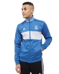 Adidas Blue Real Madrid 3-stripes Track Top for men