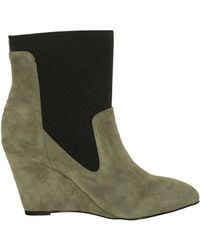 Charles David | Gray Charles By Erie Suede Stone Grey/black Ankle-high Suede Pump | Lyst