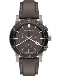 Burberry - Multicolor Leather Chronograph Mens Watch Bu9384 for Men - Lyst