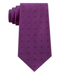Calvin Klein - Purple Men's New Reflection Dot Tie for Men - Lyst