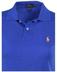 Polo Ralph Lauren - Blue Classic Fit Mesh Pony Shirt--small - Lyst