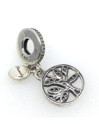 Pandora - Metallic Family Heritage Pendant Charm - Lyst