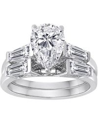 Swarovski - Multicolor Pure Perfection Certified Bridal Ring With Pear-shaped Stone Made With Zirconia - Lyst