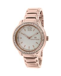 15efd8fcfa8 Lyst - Tommy Hilfiger 1781468 Rose-gold Stainless-steel Analog ...