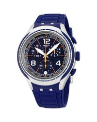 Swatch - Blue Face Chronograph Dark Blue Dial Watch Yys4015 for Men - Lyst