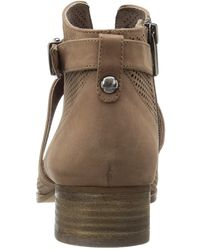 Vince Camuto - Natural Casha Smoke Taupe Oiled Nubuck Buckle Ankle Bootie Shoe 8.5 New - Lyst