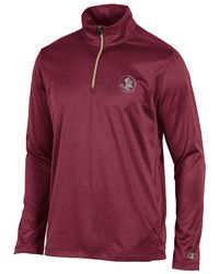 Champion - Red Florida State Mens Victory Quarter Zip Jacket for Men - Lyst
