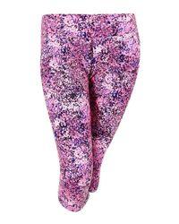 Calvin Klein - Purple Performance Printed Leggings (xxl - Lyst