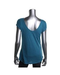 Calvin Klein Jeans - Blue Womens Juniors Modal Blend Short Sleeves Casual Top - Lyst