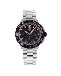 Tag Heuer - Metallic Cau1116.ba0858 Formula 1 Black Dial Stainless Steel Watch for Men - Lyst