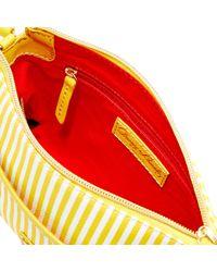 Dooney & Bourke - Yellow Db Stripe Ginger Crossbody - Lyst