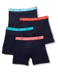 Tommy Hilfiger - Blue 09te022 Cotton Classics Boxer Briefs - 4 Pack for Men - Lyst