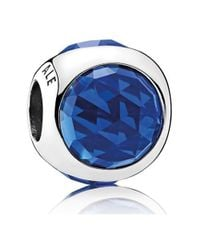 Pandora - Royal Blue Radiant Droplets Charm - Lyst