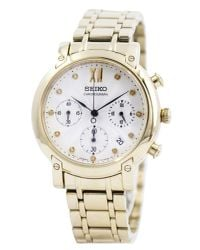 Seiko - Metallic Chronograph Quartz Crystals Srw836 Srw836p1 Srw836p Womens Watch - Lyst