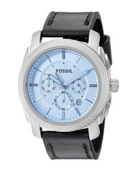 Fossil | Multicolor Machine Chronograph Leather Mens Watch Fs5160 for Men | Lyst