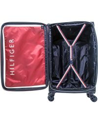 "Tommy Hilfiger - Red Luggage Starlight 24"" Expandable Spinner Checked Luggage - Lyst"