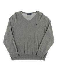 Polo Ralph Lauren - Gray Big & Tall Merino Wool Long Sleeves V-neck Sweater for Men - Lyst