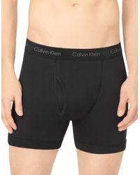 CALVIN KLEIN 205W39NYC - Black Cotton Boxer Briefs for Men - Lyst