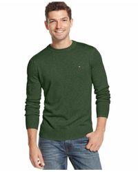 Tommy Hilfiger - Lightweight Crewneck Sweater Black Forest Green Xx-large for Men - Lyst