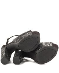 Jessica Simpson - Danyy Women Open Toe Canvas Black Platform Heel - Lyst