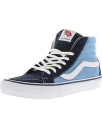 Vans - Blue Sk8-hi Pro 50th 86 Navy / White Ankle-high Canvas Skateboarding Shoe for Men - Lyst