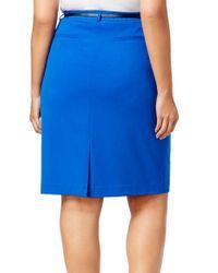 CALVIN KLEIN 205W39NYC - Blue Size 18w Plus Straight Pencil Skirt - Lyst