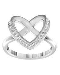 Swarovski - Metallic Cupidon Ring - Lyst