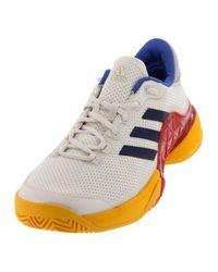 Men s `s Barricade 2017 Pharrell Williams Tennis Shoes Scarlet And Chalk  White fcf313db6