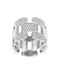 Swarovski - Multicolor Cube Crystal Ring - Lyst