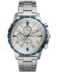 Fossil - Metallic Dean Fs5319 Silver Stainless-steel Quartz Fashion Watch for Men - Lyst