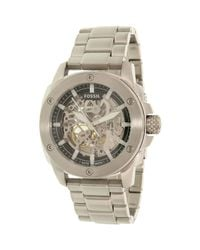 Fossil | Metallic Modern Machine Me3081 Silver Stainless-steel Automatic Dress Watch for Men | Lyst