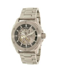 Fossil - Metallic Modern Machine Me3081 Silver Stainless-steel Automatic Dress Watch for Men - Lyst