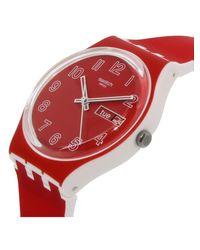 Swatch - Originals Gw705 Red Silicone Swiss Quartz Fashion Watch - Lyst