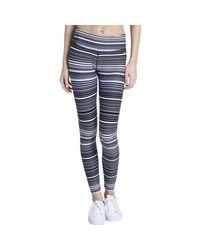 CALVIN KLEIN 205W39NYC - Blue Striped Performance Athletic Leggings - Lyst