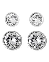 Swarovski - Metallic Harley Pierced Earrings Set 5181485 - Lyst
