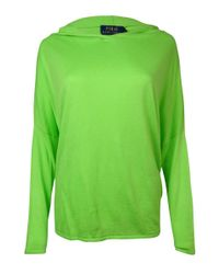 Polo Ralph Lauren - Green Hooded Dolman Cashmere Blend Sweater (m - Lyst