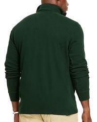 Polo Ralph Lauren - Green Big & Tall Estate Rib Mockneck Quarter-zip Pullover for Men - Lyst