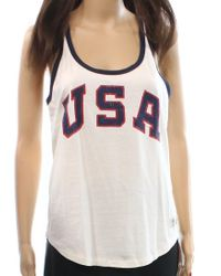 Polo Ralph Lauren - White Usa Graphic Tank Top - Lyst