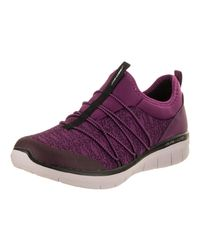 Skechers - Synergy 2.0-simply Chic Purple/black Casual Shoe 6.5 Women Us - Lyst