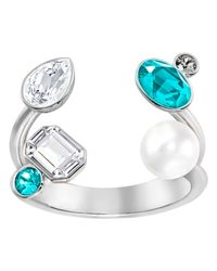 Swarovski - Multicolor Extra Large Open Ring - Lyst
