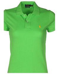 Polo Ralph Lauren - Mesh The Skinny Polo Shirt-green - Lyst