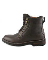 Tommy Hilfiger - Brown Hollins Men Round Toe Leather Boot for Men - Lyst