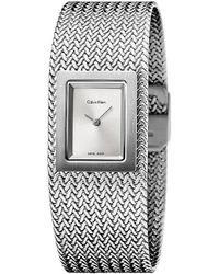 Calvin Klein - Metallic Ck Mesh Bracelet Dress Watch K5l13136 - Lyst
