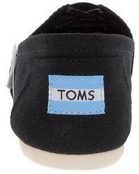TOMS - Black Canvas Slip-on - Lyst